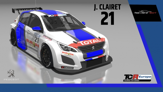 2020-2020 SIM Racing cars---2020 TCR Europe SIM cars new, 21 Jimmy Clairet