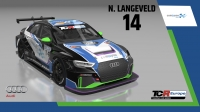 2020-2020 SIM Racing cars---2020 TCR Europe SIM cars new bis, 14 Niels Langeveld