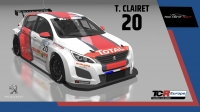 2020-2020 SIM Racing cars---2020 TCR Europe SIM cars new, 20 Teddy Clairet
