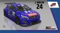 2020-2020 SIM Racing cars---2020 TCR Europe SIM cars new, 24 Julien Briche