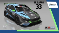 2020-2020 SIM Racing cars---2020 TCR Europe SIM cars new, 33 José Manuel Sapag