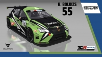 2020-2020 SIM Racing cars---2020 TCR Europe SIM cars new, 55 Bence Boldizs