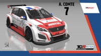 2020-2020 SIM Racing cars---2020 TCR Europe SIM cars new, 7 Aurelien Comte