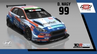 2020-2020 SIM Racing cars---2020 TCR Europe SIM cars new, 99 Daniel Nagy